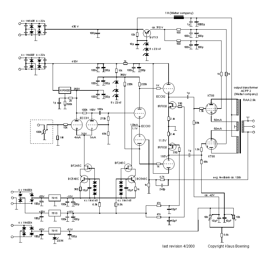 triode audio amp schematics